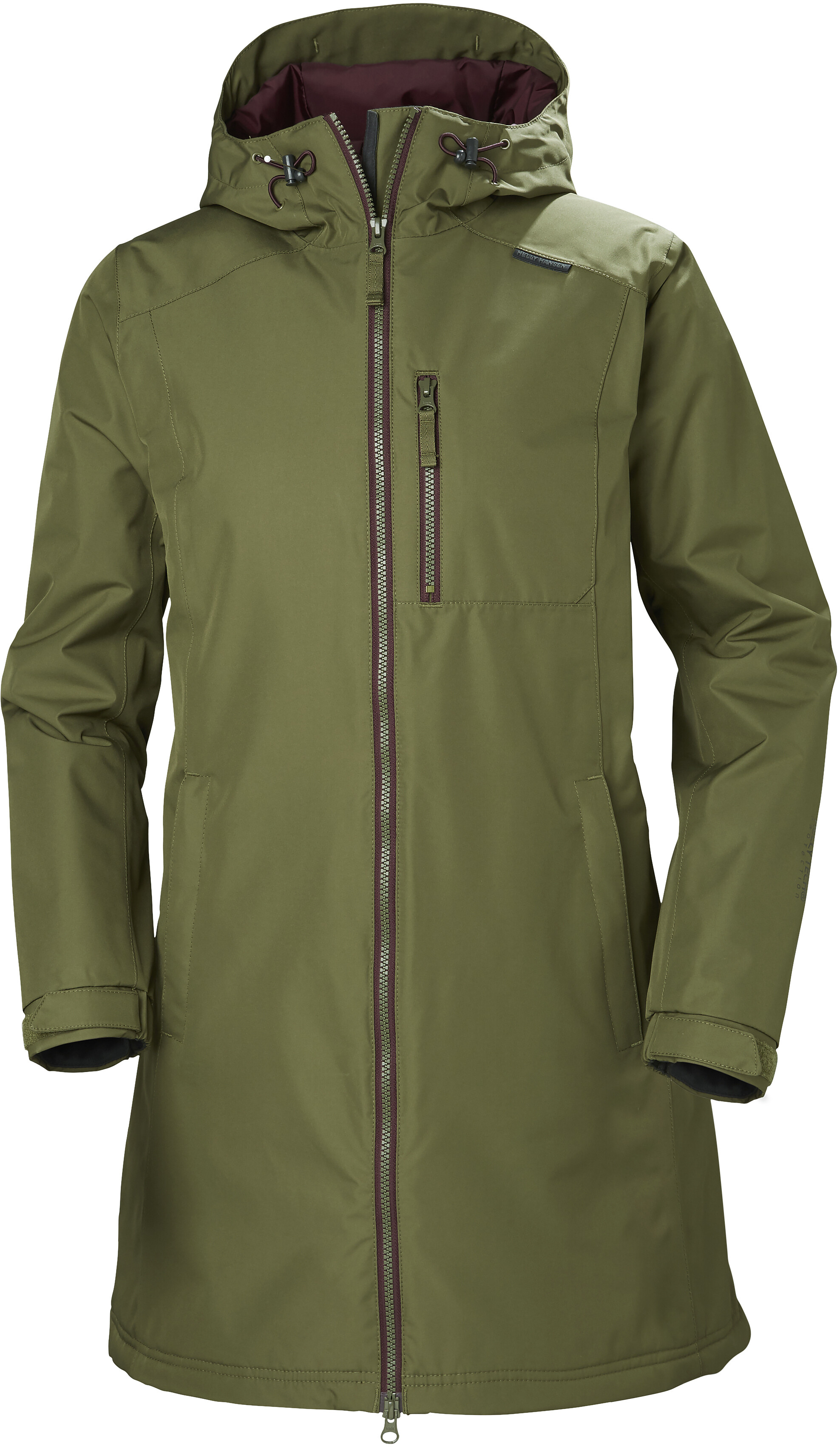 Helly Hansen Long Belfast Jacket Women Olive At Addnature